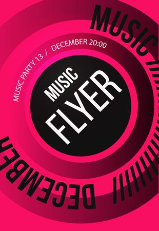 lineup: Party Flyer. Club music flyer. DJ lineup design. Vector template