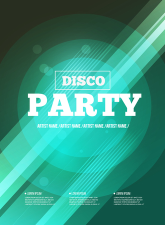 party club: Party Flyer. Club music flyer. DJ lineup design. Vector template