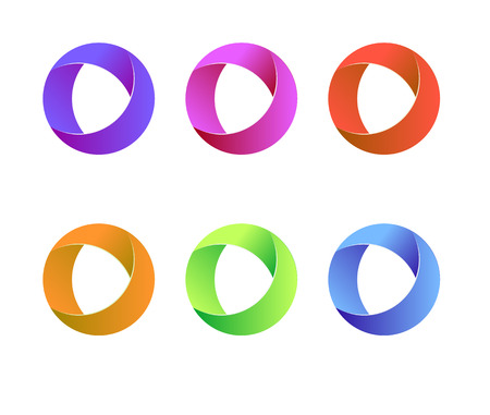 Vector circle logo. Vector circle round logo design. Abstract circle logo template.abstract round logo for computer and mobile applications. Company logo design.  イラスト・ベクター素材