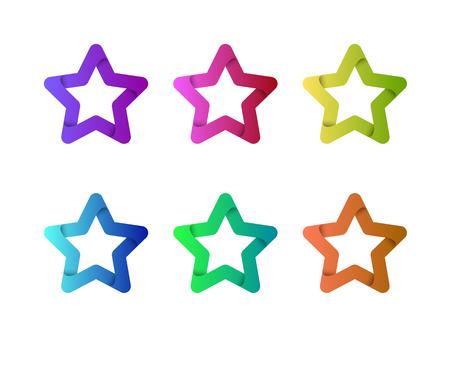 Modelo de la insignia del vector de la estrella. emblema de la estrella. estrella de la celebridad, campeón, de estrellas. símbolo de la estrella. Logotipo de Starburst. El éxito de la estrella logotipo icono. Lo mejor de lo mejor logotipo de la estrella. Foto de archivo - 52730168
