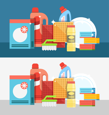 cleaning products: Cleaning tools vector set. Detergents for cleaning home or hotel. Cleaning products. Clean service vector icon.