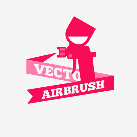 airbrushing: Airbrush or spray gun vector.