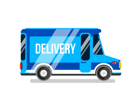 delivery car: Delivery car vector illustration. Express delivery car. Illustration