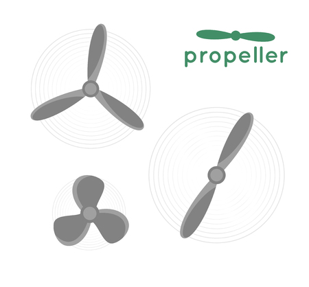Propeller vector illustration. Propeller aircraft vector illustration. Retro propeller. Vector propeller. Propeller engine aircraft. Propeller quadrocopter