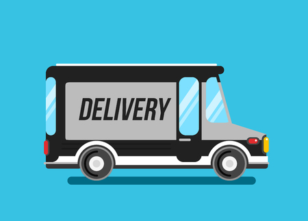 car speed: Delivery truck vector illustration. Express delivery car.