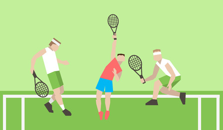 wimbledon: Professional tennis players on the tennis court. Strokes with a tennis racket. Tennis players play tennis. Tennis tournament