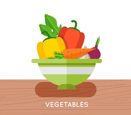 leaf lettuce: Salad ingredients vector set. Salad ingredients vector illustration. Vegetables for salad. Vegetables for mixing salad.
