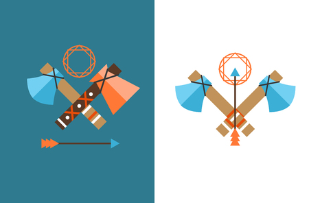 indian weapons: Tomahawk vector icon. American Tomahawk vector logo. Tomahawk sign set. Traditional Tomahawk. Indian Tomahawk. Axe vector icon