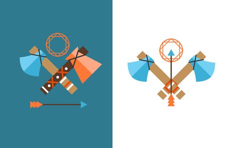 american tomahawk: Tomahawk vector icon. American Tomahawk vector logo. Tomahawk sign set. Traditional Tomahawk. Indian Tomahawk. Axe vector icon