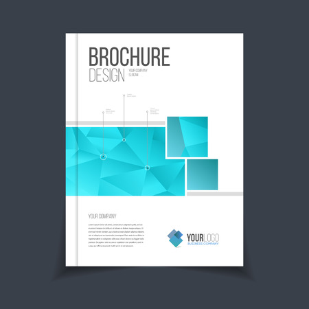 Vector brochure template. Annual report cover design. Catalog or flyer with headline. Advertising booklet vector illustration