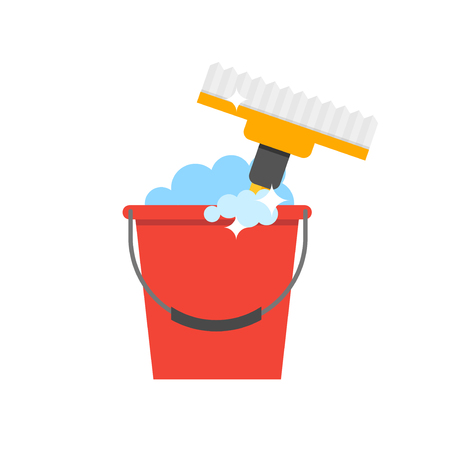 dusting: Cleaning equipment vector icon. Detergents on white background. Tool for cleaning vector sign. Illustration