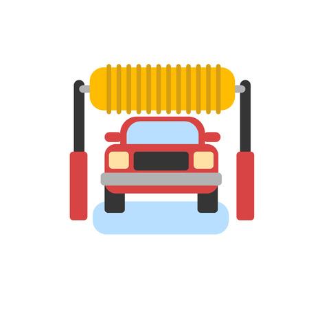 car wash: Car automatic wash icon. Car cleaning. Car wash vector icon. Automatic car washing service. Illustration