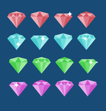 diamond stone: Diamond vector set. Diamond stone vector illustration. Diamond jewels vector sign.