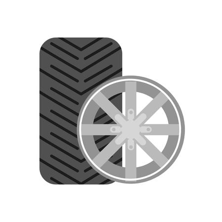 skid: Tyre vector icon. Tyre service. Tyre skid marks. Tire storage vector logo. Illustration