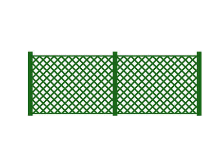 fencepost: Vector fence illustration. Farm fence. Fence with border. Building fence. Fence element. Flat fence vector illustration. Fence sign.