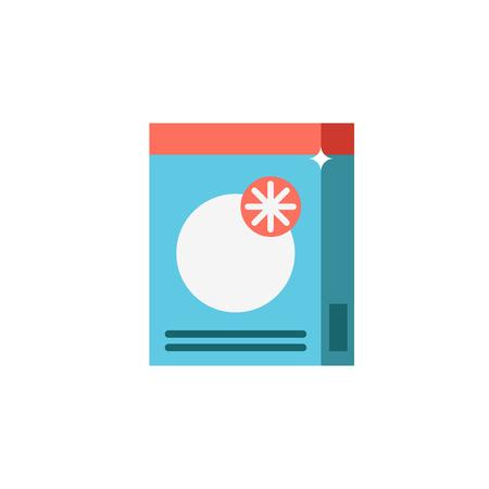 Detersivo in polvere o detersivo icone vettoriali per il lavaggio a mano o in lavatrice Vettoriali