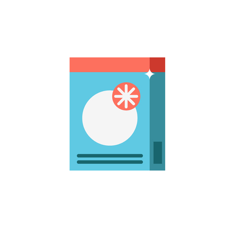 washing powder: Powder detergent or washing powder vector icon for hand washing or in a washing machine