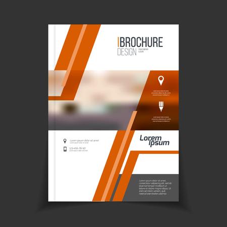 Modelo del folleto del vector. anual del diseño cubierta de informe. Catálogo o folleto con titular. Publicidad ilustración vectorial folleto Foto de archivo - 55854676