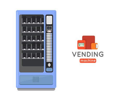 processed food: Vending machine vector set. Sell snacks and soda drinks vending machines. Vending machine with copropriete. Vending machine credit card pay. Vending machine merchandising.