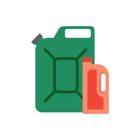 Vector canister icon. Can of gasoline. Canister automotive fuel. The capacity for gasoline. Gasoline refueling. Canister for car.