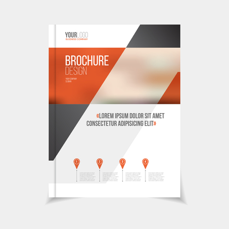 Brochure template vector illustration, cover design annual report, magazine, flyer or booklet in A4. Advertising brochure template.