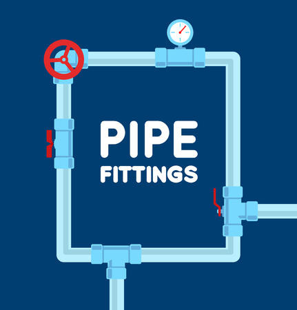 sewerage: Pipe fitting vector set. Pipeline vector illustration. Pipe fitting for repair home. Gas pipe. Water pipe set. Sewerage vector illustration. Water drain or drainage system