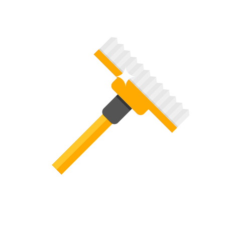 burnish: Cleaning mop flat vector.