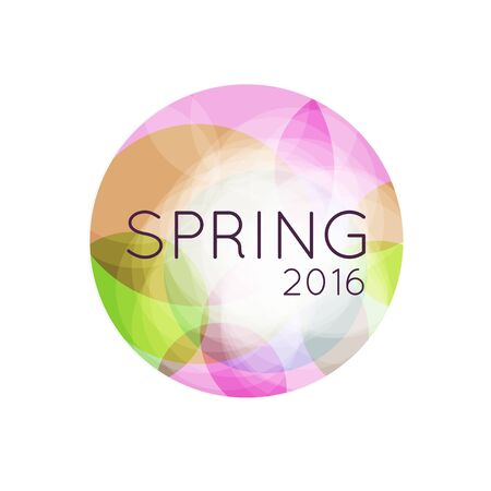 springtime: Colorful Abstract Background with text. Spring abstract banner. Springtime card. Illustration