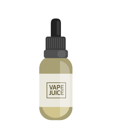 vaporizer: Vape juice for smoking machine. Vaping electronic vaporizer. Alternative smoking. Vaping new culture vector sign. electronic cigarette Illustration