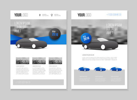 Car brochure. Auto Leaflet Brochure Flyer template A4 size design, car repair business catalogue cover layout design, Abstract presentation template  イラスト・ベクター素材