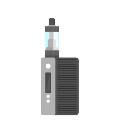 vaporizer: Vape smoking machine. Vaping electronic vaporizer. Alternative smoking. Vaping new culture vector sign. electronic cigarette Illustration