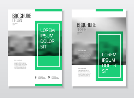 the publisher: Abstract business Brochure design vector template in A4 size. Document or book cover. Annual report with photo and text. Simple style brochure. Flyer promotion. Presentation cover Illustration
