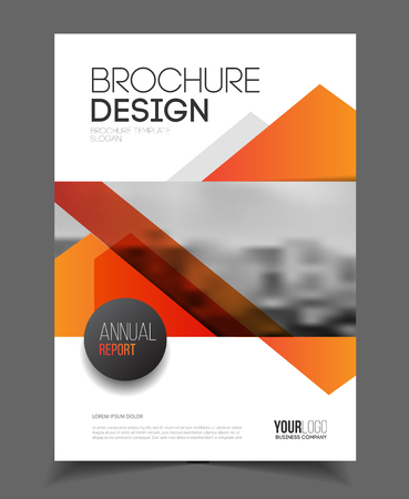 blank pages: Abstract business Flyer design vector template in A4 size. Document or book cover. Annual report with photo and text. Simple style brochure.