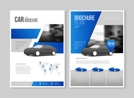 Car brochure. Auto Leaflet Brochure Flyer template A4 size design, car repair business catalogue cover layout design, Abstract presentation template 일러스트