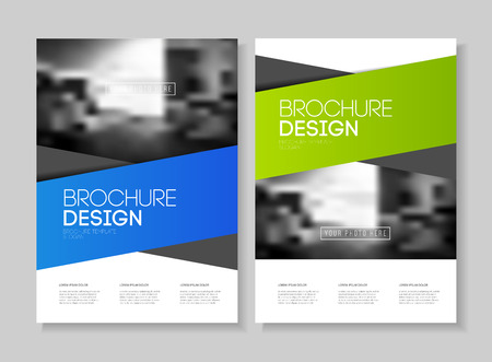 Abstract business Flyer design vector template in A4 size. Document or book cover. Annual report with photo and text. Simple style brochure. Imagens - 57822229