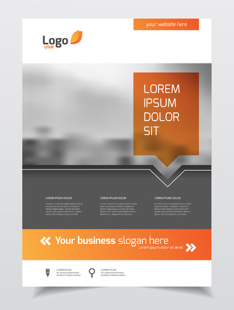 building material: Abstract business Brochure design vector template in A4 size. Document or book cover. Annual report with photo and text. Simple style brochure. Flyer promotion. Presentation cover Illustration