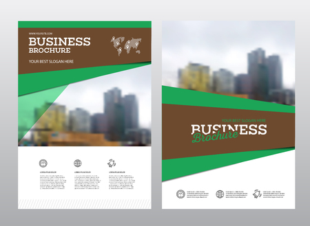 Modern Brochure Design Template Vector Set  Annual Report Layout