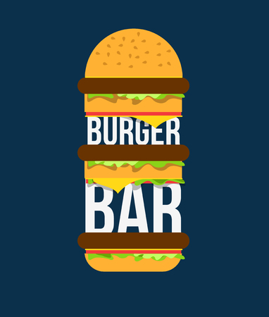 beefburger: Beefburger with vegetables and meat vector illustration. Illustration