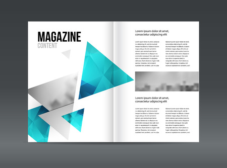 adverts: Modern brochure layout design template vector illustration set.