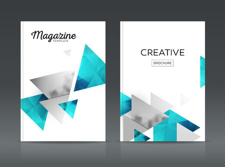 catalog: Magazine cover layout design template vector set. Annual report layout with photo place. illustration vector in A4 size