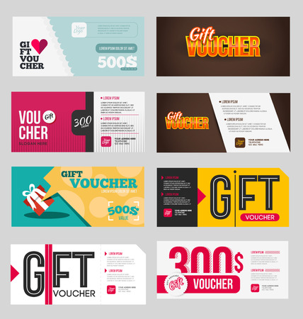 Big Voucher Discount Template Set Gift Flyer Template For Business
