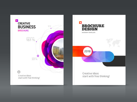 advertising material: Abstract business Brochure design vector template in A4 size. Document or book cover. Annual report with photo and text. Simple style brochure. Flyer promotion. Presentation cover Illustration