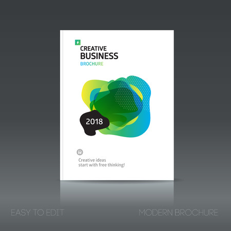 magazine design: Simple style brochure. Flyer promotion. Abstract business Brochure design vector template in A4 size. Document or book cover. Annual report with photo and text. Presentation cover