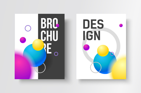electronic music: Gradient modern poster