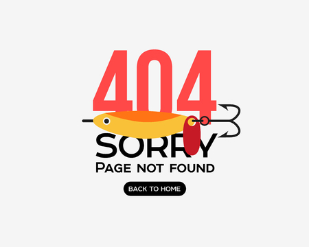 Page with a 404 error. Template reports that the page is not found Ilustração