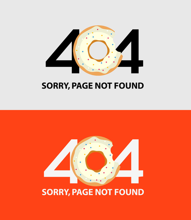 Page with a 404 error. Template reports that the page is not found Illustration