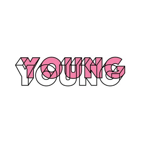 diseño de impresión de la camiseta con lema Ilustración de vector