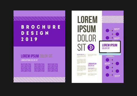 Vector brochure template design for company