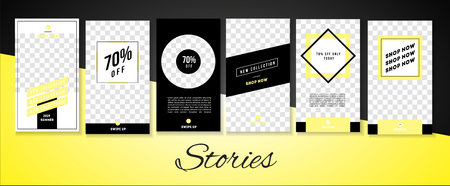 Stories lookbook fashion template illustration