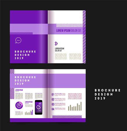 Vector brochure template design for company